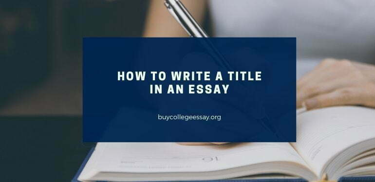 How to write a title in an essay