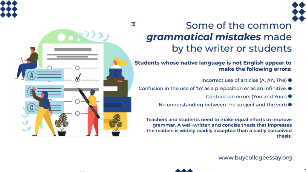 grammatical mistakes made by students